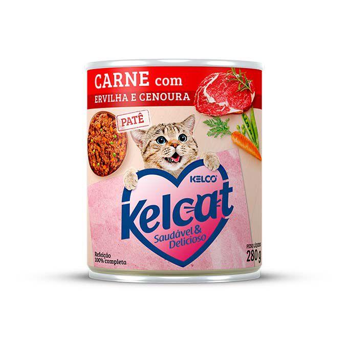 Alimento Úmido Kelcat Patê Carne com Ervilha e Cenoura