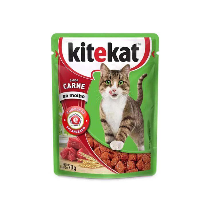 Alimento Úmido KiteKat Carne ou Frango ao Molho