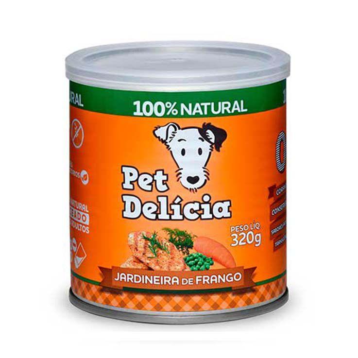 Alimento Úmido Pet Delícia Cães Jardineira de Frango