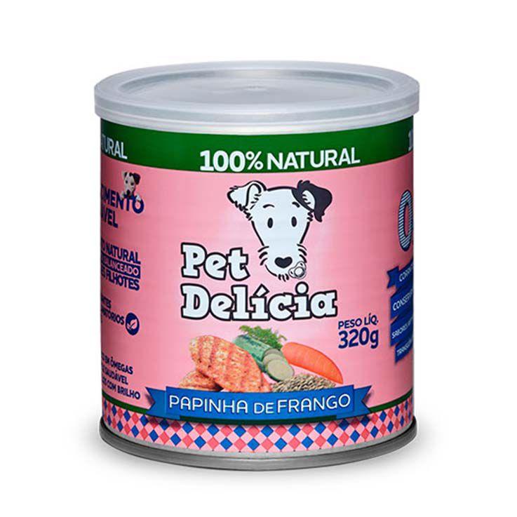 Alimento Úmido Pet Delícia Cães Papinha de Frango - Filhotes