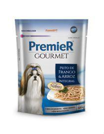 Alimento Úmido Premier Gourmet Cães Frango e Arroz Integral