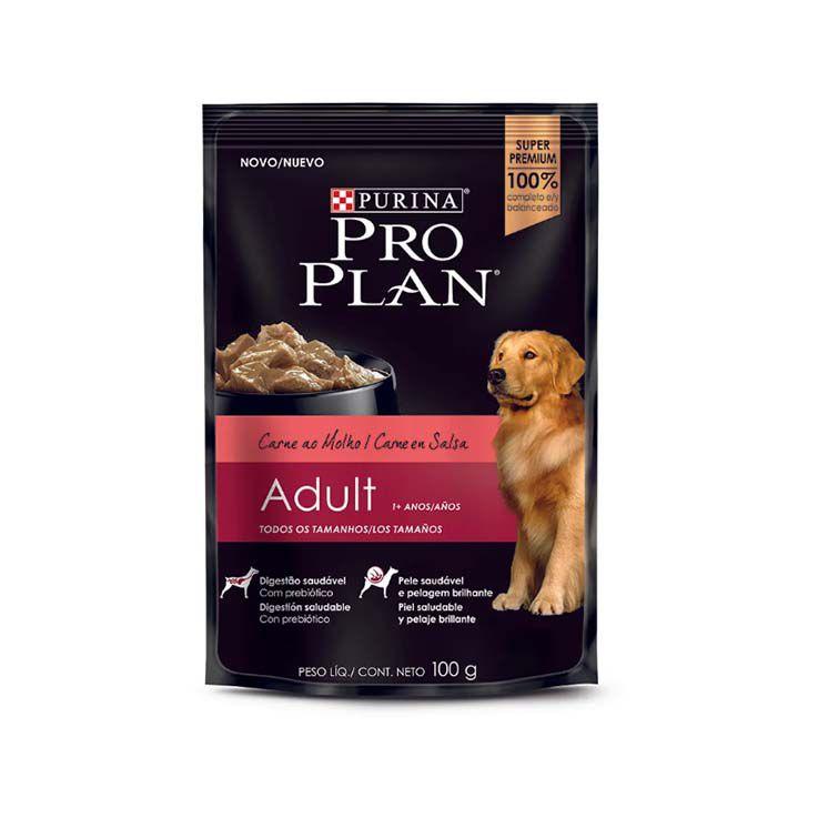Alimento Úmido Pro Plan Adulto Carne ao Molho