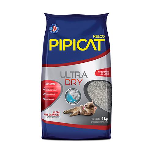 Areia Higienica Pipicat Ultra Dry 4kg