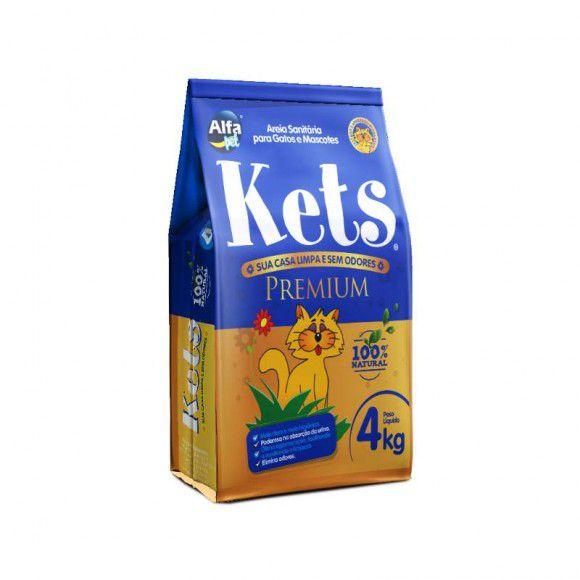 Areia para Gatos Kets Premium 4Kg