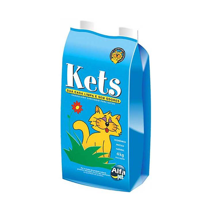 Areia Sanitária Kets Azul 4Kg