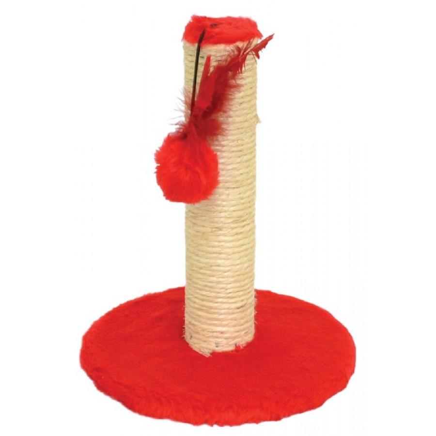 Brinquedo Arranhador Liso 1 Andar Vermelho