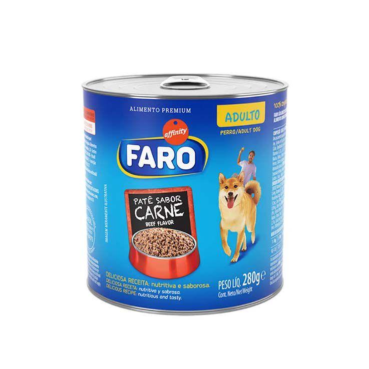 Alimento Úmido Faro Adultos Lata Patê Carne