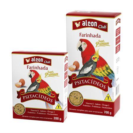 Alimento Completo para Aves Alcon Farinhada Super Premium Psitacídeos