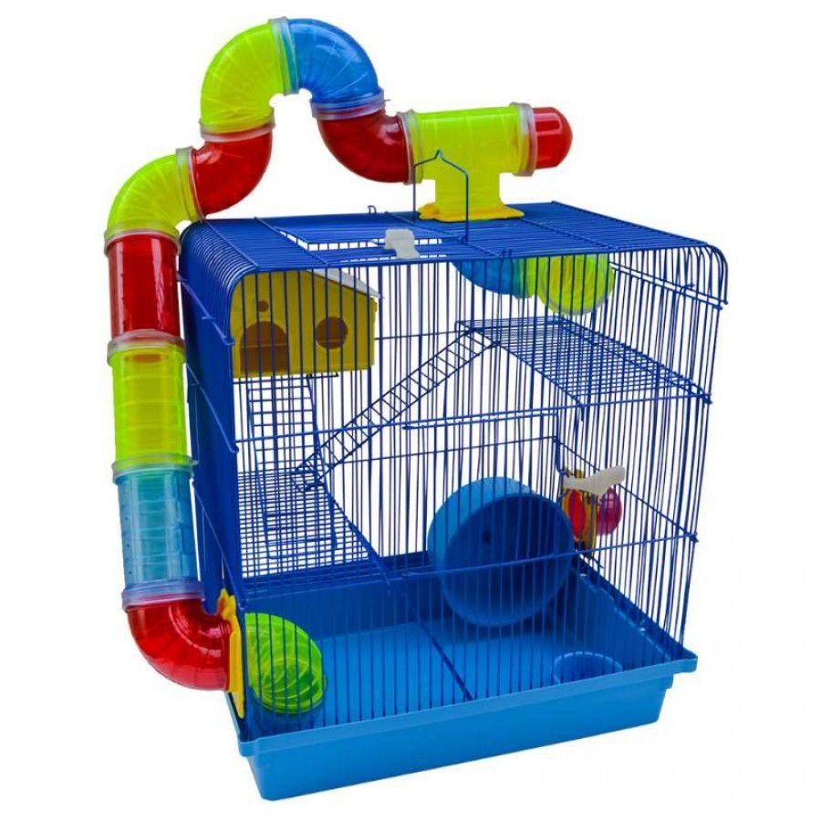 Gaiola Tubo Luxo 3 andares para Hamster