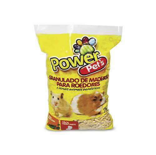 Granulado de Madeira Power Pets para Roedores 2kg