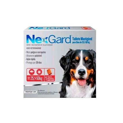 NexGard Antipulgas e Carrapatos para Cães de 25,1 a 50kg