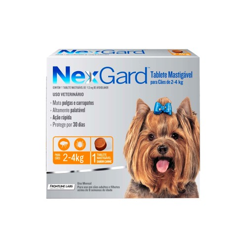 NexGard Antipulgas e Carrapatos para Cães de 2 a 4kg