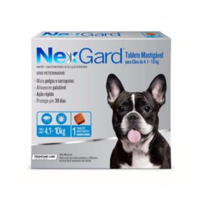 NexGard Antipulgas e Carrapatos para Cães de 4,1 a 10kg