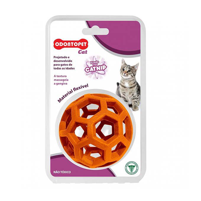 Brinquedo Odontopet Cat Bola Catnip