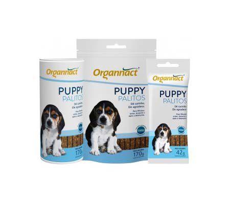 Petisco Organnact Cães Filhotes Puppy Palitos 170G