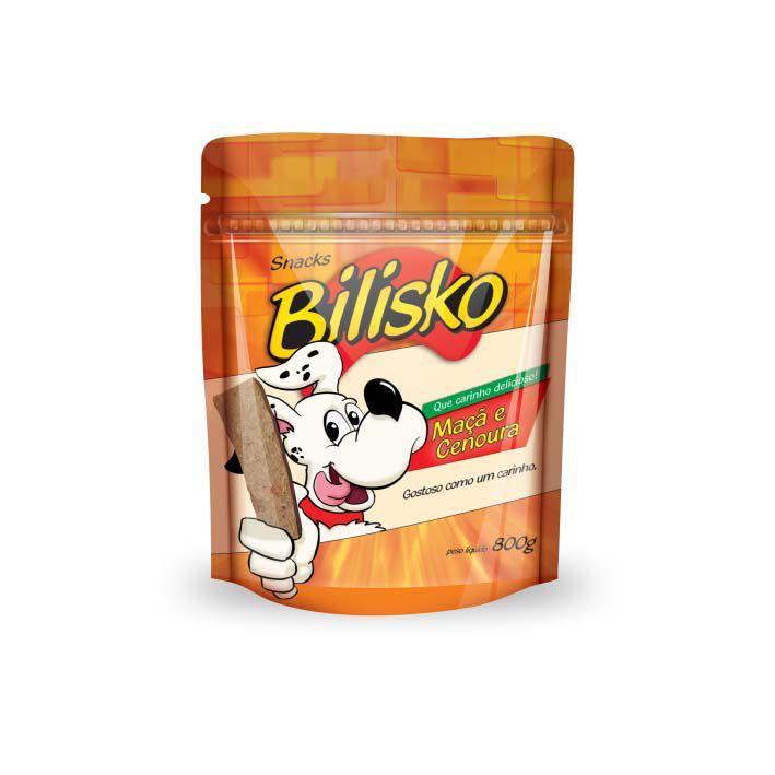 Petisco Bilisko Bifinho Maça e Cenoura para Cães