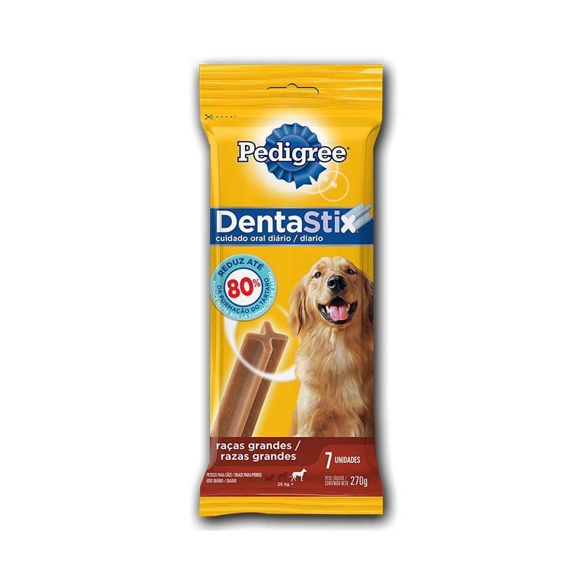 Petisco Pedigree Dentastix Cuidados Orais Cães Adultos Raças Grandes