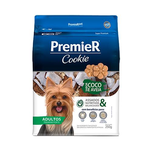 Petisco Premier Cookie Cães Adultos Pequeno Porte Coco e Aveia