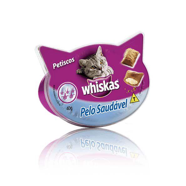 Petisco Whiskas Temptation Pelo Saudável
