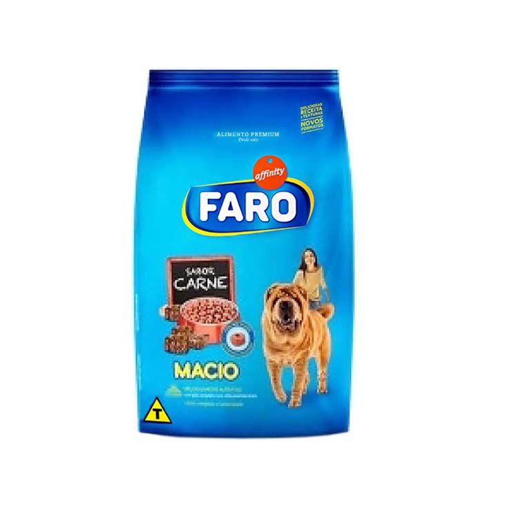 Ração Faro Macio Cães Adultos/Filhotes Carne