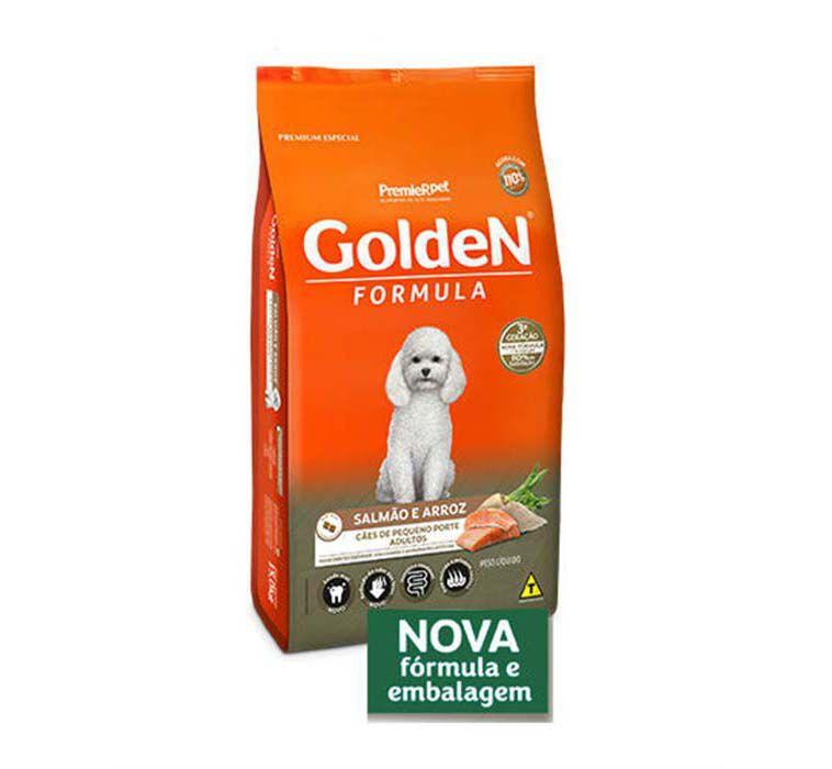 Ração Golden Fórmula Cães Adultos de Pequeno Porte Salmão e Arroz