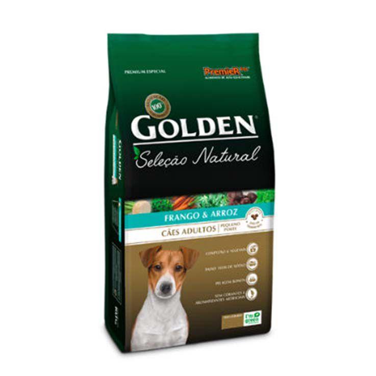 Ração Golden Seleção Natural Cães Adultos de Pequeno Porte Frango e Arroz