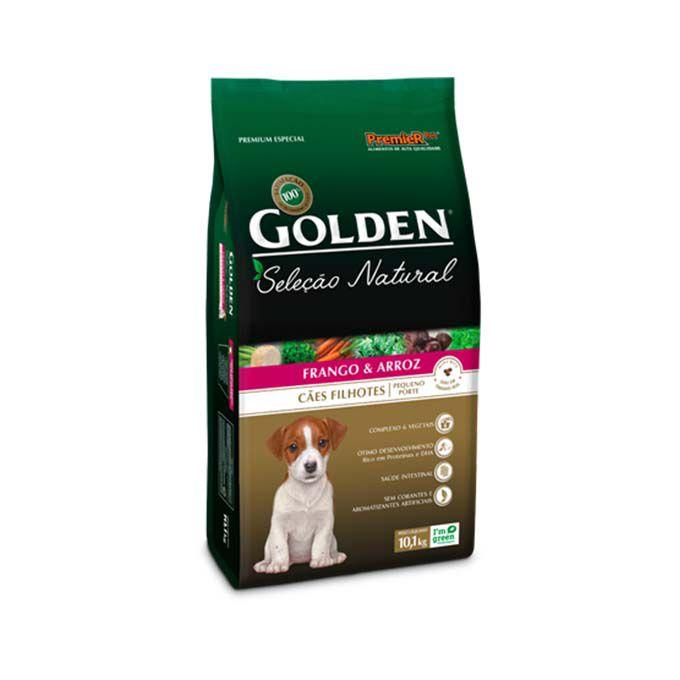 Ração Golden Seleção Natural Cães Filhotes de Pequeno Porte Frango e Arroz