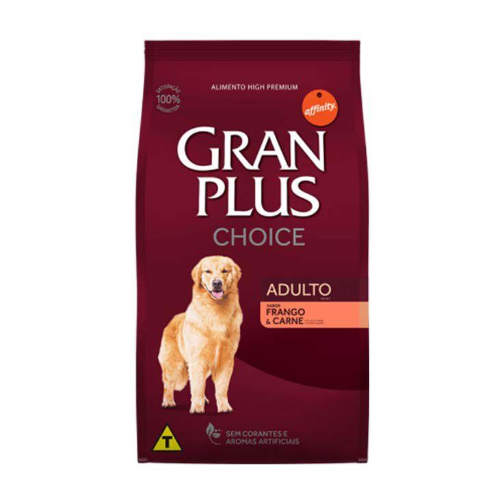Ração Gran Plus Choice Cães Adultos Frango e Carne