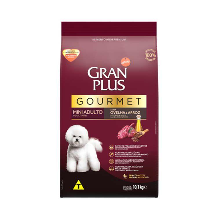 Ração Gran Plus Gourmet Cães Adultos Mini Ovelha e Arroz