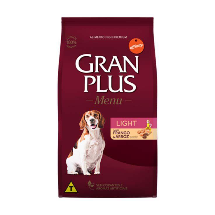 Ração Gran Plus Menu Cães Adultos Light Frango e Arroz