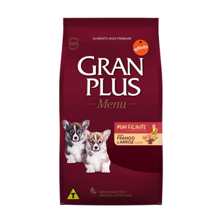 Ração Gran Plus Menu Cães Filhotes Mini Frango e Arroz