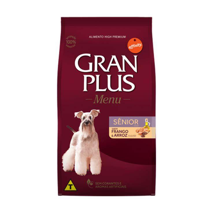 Ração Gran Plus Menu Cães Sênior Frango e Arroz