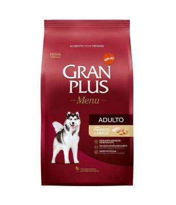 Ração Gran Plus Menu Cães Adultos Frango e Arroz