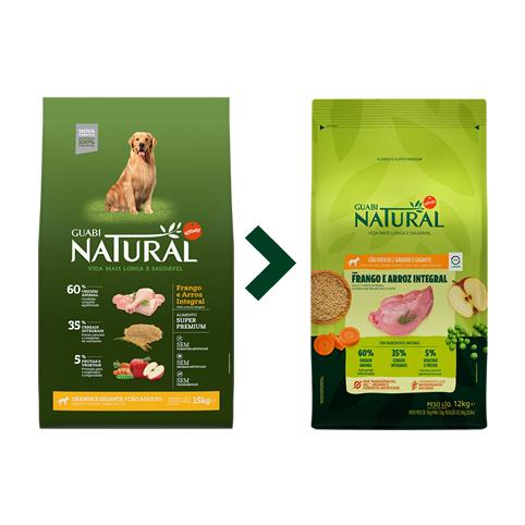 Ração Guabi Natural Cães Adultos Grande Frango e Arroz