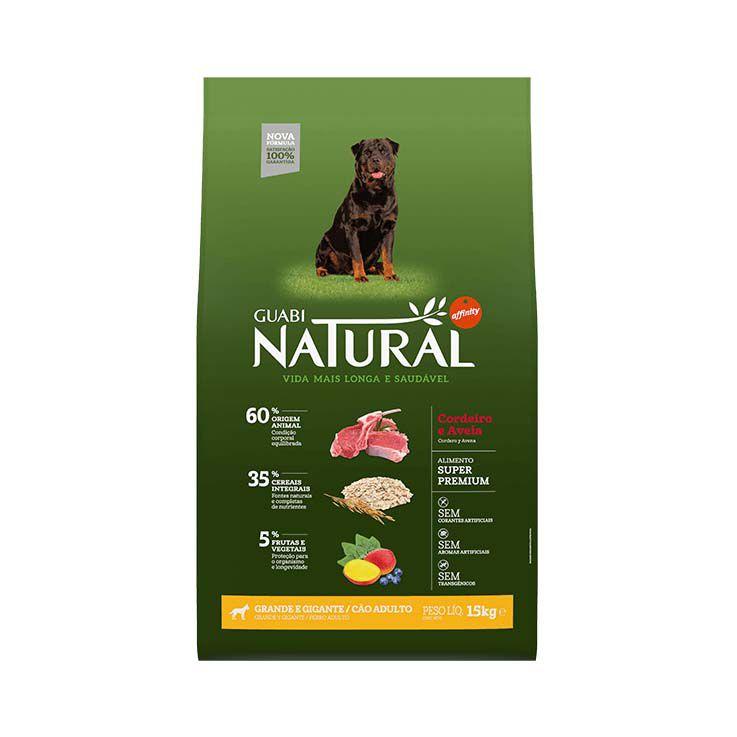 Ração Guabi Natural Integral Cães Adultos Grande e Gigante Cordeiro e Aveia