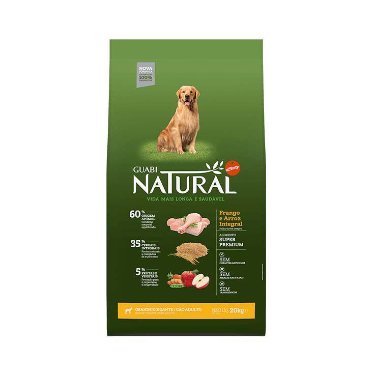 Ração Guabi Natural Integral Cães Adultos Grande e Gigante Frango e Arroz