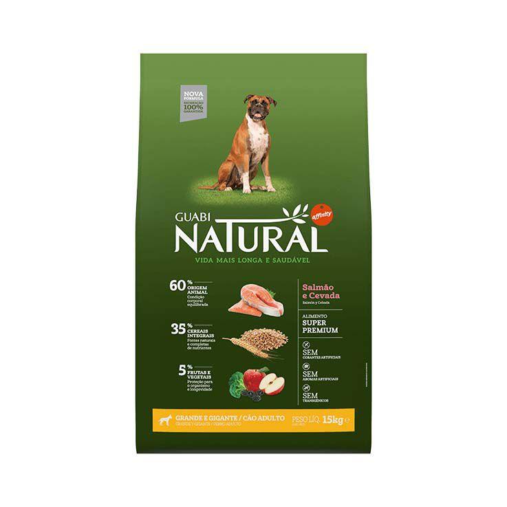 Ração Guabi Natural Integral Cães Adultos Grande e Gigante Salmão e Cevada