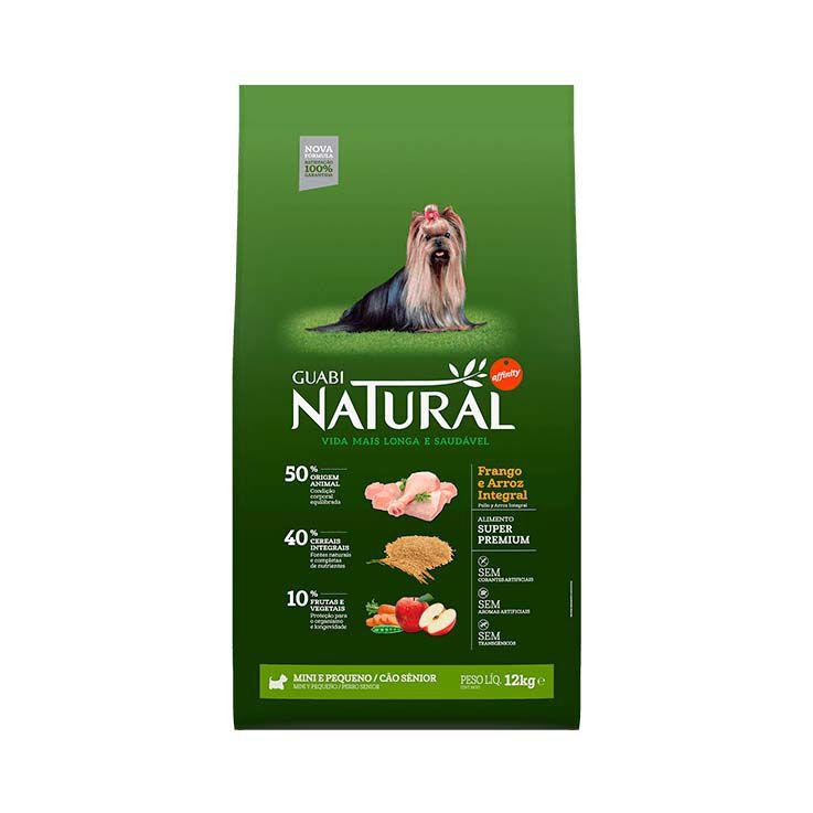Ração Guabi Natural Integral Cães Sênior Mini e Pequeno Frango e Arroz