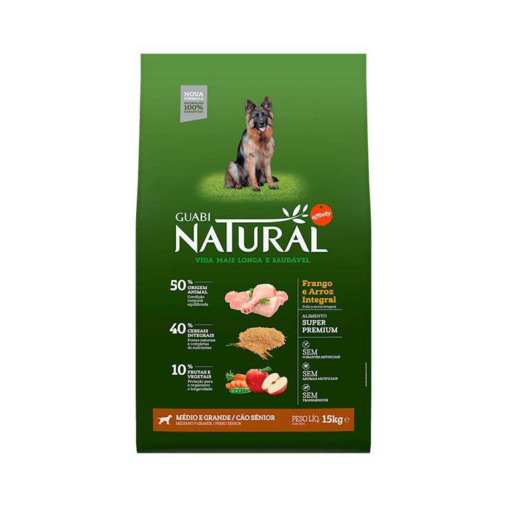 Ração Guabi Natural Integral Cães Sênior Médias e Grandes Frango e Arroz