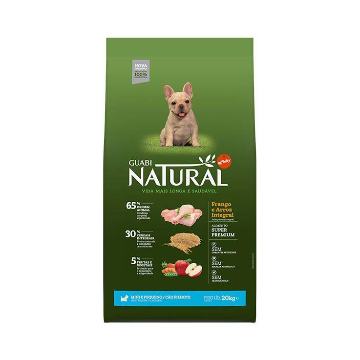 Ração Guabi Natural Integral Filhotes Mini e Pequeno Frango e Arroz