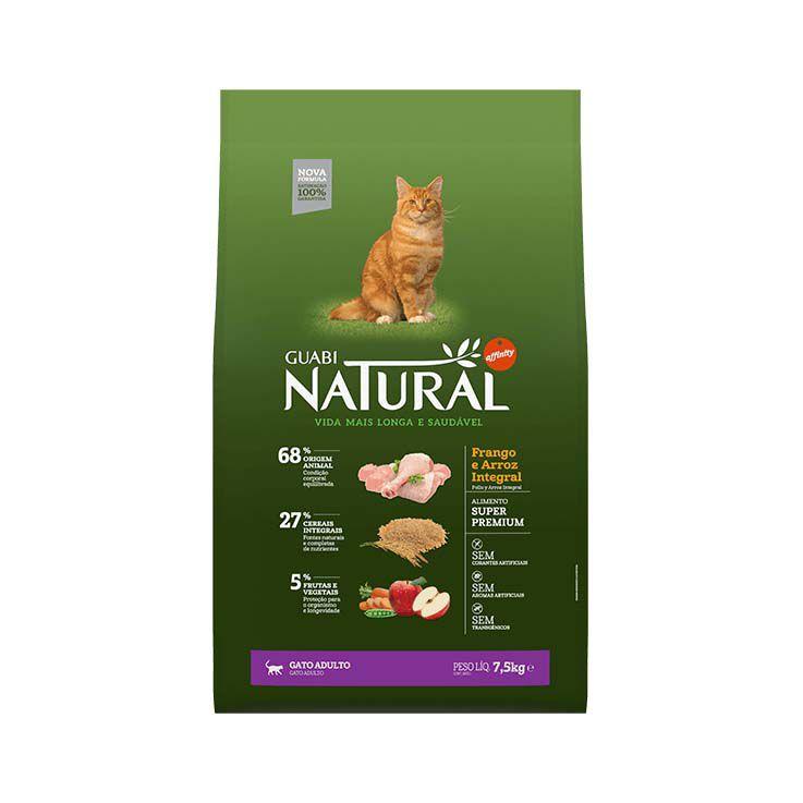 Ração Guabi Natural Integral Gatos Adultos Frango e Arroz