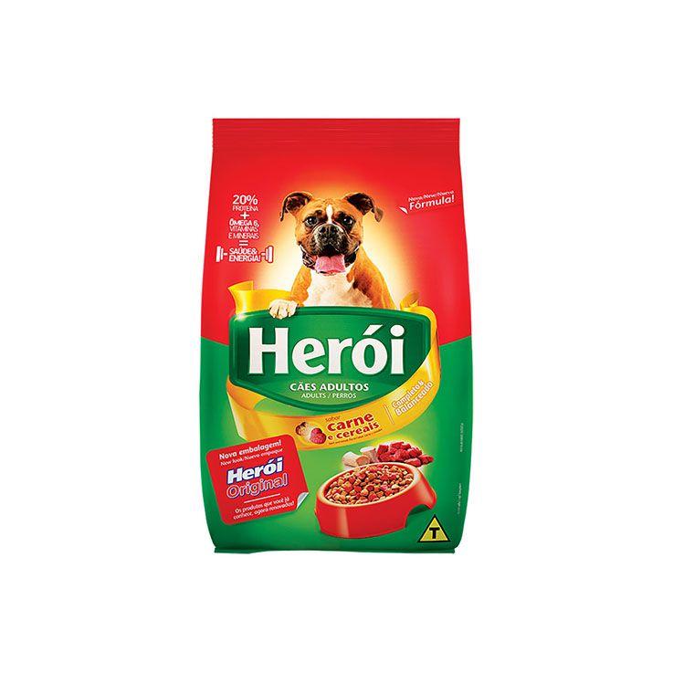 Ração Herói Adultos Carne e Cereais
