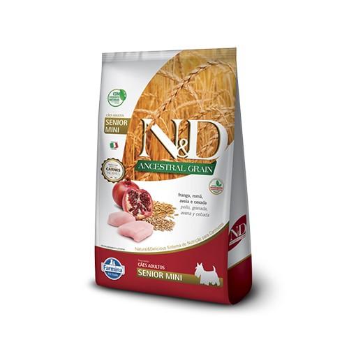Ração N&D Ancestral Grain Cães Senior Mini Frango