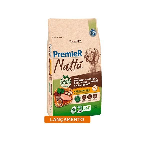 Ração Premier Nattu Cães Adultos Mandioca