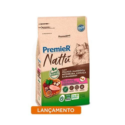 Ração Premier Nattu Cães Adultos Mandioca Pequeno Porte
