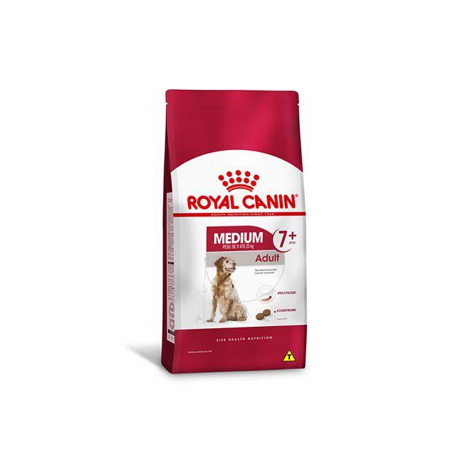 Ração Royal Canin Medium Adulto 7+