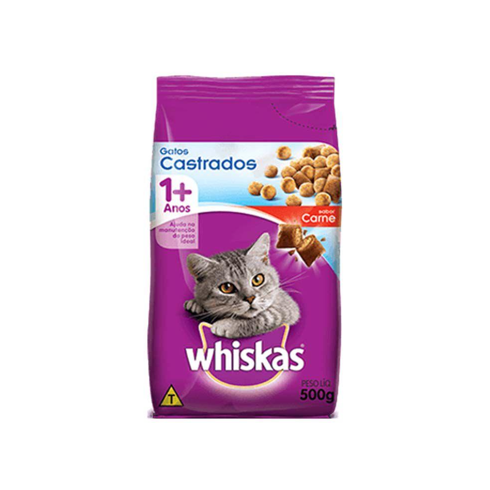Ração Whiskas para Gatos Castrados Carne
