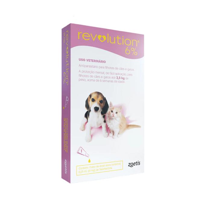 Revolution Antipulgas 6% 15mg para Cães e Gatos de 2,5kg