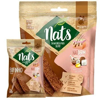 Bifinho Natural Snack Nats NatDerm para Cães