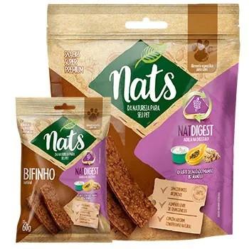 Bifinho Natural Snack Nats NatDigest para Cães